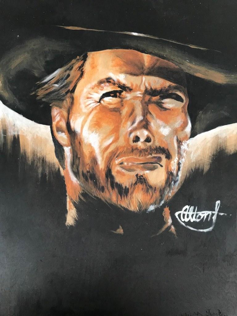 Clint Eastwood 17x13 -  $150